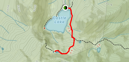 Heart Lake Trail From Castle Lake Map