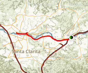 Santa Clara River Commuter Rail Trail Map