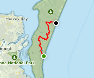 Fraser Island Great Walk (South to North) Map
