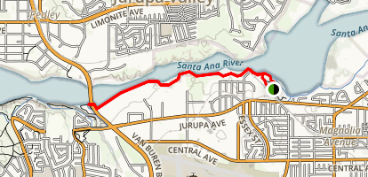 Santa Ana River Trail at Martha McLean-Anza Narrows Map