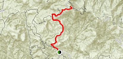 Browns Canyon to Oat Mountain Map