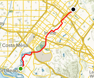 Mountains to Sea Trail from Newport Beach Map