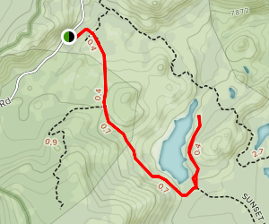 Tamarack Lake Trail Map