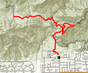 West Cucamonga Truck Trail Map