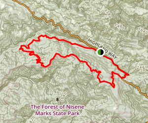 Soquel Demonstration Forest Flow Trail Map