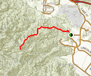 East Horsethief Trail Map