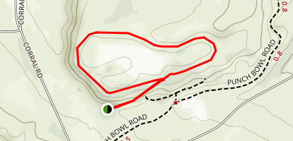 Punch Bowl Lake Loop Map