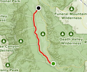Death Valley West Side Road Map
