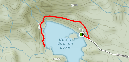 Upper Salmon Lake Trail Map