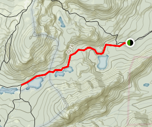 McKinney, Lily & Miller Lakes Trail Map