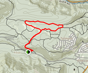 Page Meadows Loop Trail Map