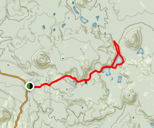 Upper and Lower Twin Lake Trail Map