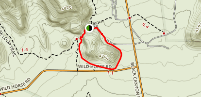 Hole-in-the-Wall Rings Trail Map