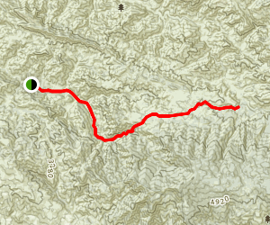 Manzana Creek Trail to White Ledge Canyon Map