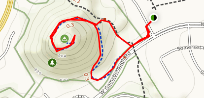 Dawn's Peak Trail Map