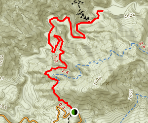 Dagger Flat Trail Map