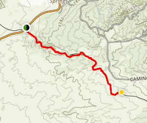 Eagle Rock via the PCT Map