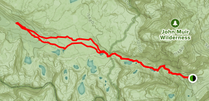 Piute Pass Trail Map