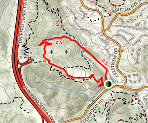 Blue Oak and Polly Geraci Trail Map