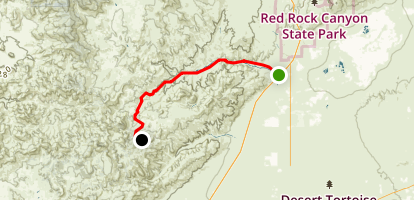Jawbone Canyon Road Map
