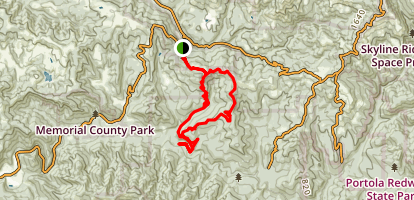 Towne Fire Road to Brook Trail Loop Map