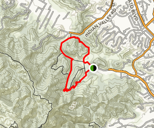 Waterfall Trail to Indian Valley Map