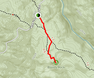 Bloody Rock Trail Map
