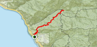 Cruickshank Trail to Upper Cruickshank Camp Map