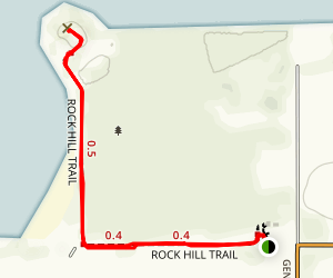Salton Sea - Rock Hill Trail Map