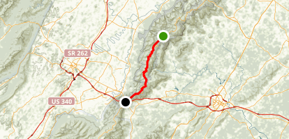 Appalachain Trail: Shendandoah Loft Mountain to Rockfish Gap Map