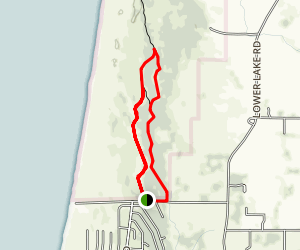 Tolowa Dunes Kellogg Loop Trail Map
