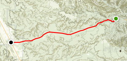 Quatal Canyon Map