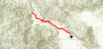 Lower Coyote Canyon Drive Map
