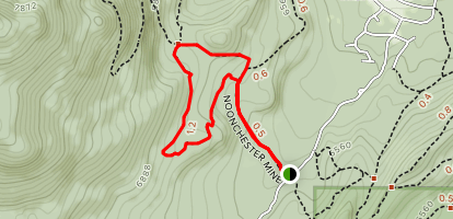 Noonchester Mine Trail Map