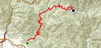 Plunge Creek Truck Trail Map