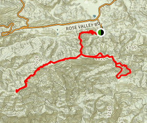 Nordhoff Ridge to Chief and Nordhoff Peaks Map