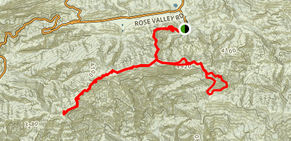 Nordhoff Ridge to Chief and Nordhoff Peaks (CLOSED) Map