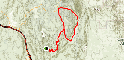 Fred Canyon Road to Thing Valley Road Loop Map