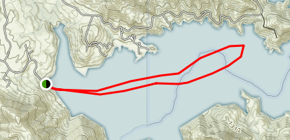 Pine Flat Reservoir  Map