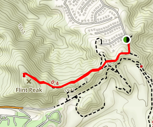 Flint Peak Trail Map