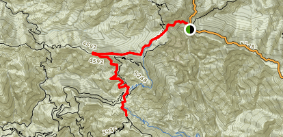 Mount Lowe Road to Inspiration Point Map
