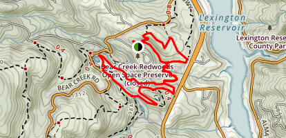 Bear Creek Redwoods Open Space Preserve Map