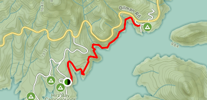 Hirz Bay Campground Trail Map