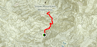 Summit Springs Trailhead to Snow Mountain Map