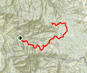 Cahoon Rock from South Fork Campground Map