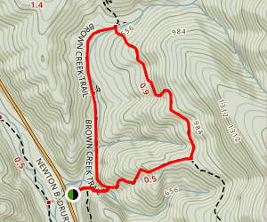 Brown Creek and South Fork Trail Loop Map