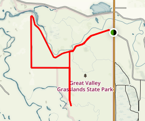Great Valley Grasslands State Park Map