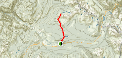 Ragged Peak Via Dog Lake Trail Map