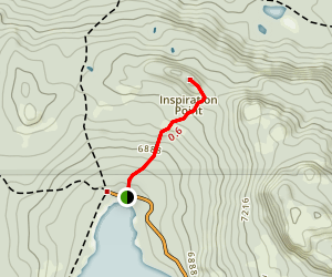 Inspiration Point Trail Map
