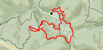 Mill Creek/Red Alder Campground Area Trails Map